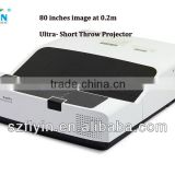 Home Cinema 4K Throw Ratio 0.32:1 80 inches image at 0.2m School interactive Ultra short throw Projector