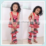 baby clothes outfit girl Bodysuit Lace Multicolor Ruffle Petti Romper With Leg Warmer Set Bubble Romper With Legwarmers
