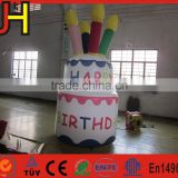 Customized inflatable cake model, inflatable birthday cake for party decoration