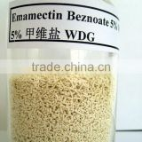HIgh putity Emamectin benzoate 5% WDG with all kinds of color &Dimethomorph 50% WDG