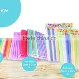 Individual wrapped bubble tea straws