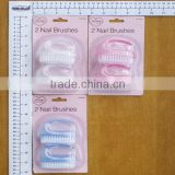 2pc Professional high quality plastic cute nail brush/clear plastic nail brush/nail brush