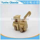 Wood 3D Vehicle mini pullze crane r 3D Woodcraft Kit Assemble Paint DIY 3D Puzzle Toys for Kids Adults the Best Birthday Gift