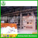 Yellow maize seed processing plant with seed treater