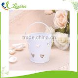 Wedding party gift 5cm 7cm round decorative mini candle galvanized metal bucket with handle