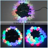 Full Color Christmas Holiday Decoration light decoration LED string light F8 RGB strawhat LED light