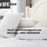 2 Pack 100% Cotton White Goose Feather & Down Bed Pillow