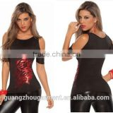 sexy club wear sexy ladies fire bodycon cutout shoulder top clubwear casual wear wholesale scoop neck sexy t shirt scoop neck