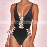 wholesale best selling ladies micro spandex nylon open sexy one piece swimwear