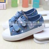 2016 new baby shoes fashion single shoes spring child girl denim canvas shoes