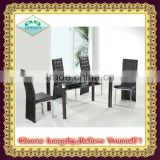 2014 hot selling high quality Modern beautiful tempered glass dining tables