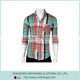 Latest Design 100% Cotton Casual Banded Collar Shirts For Men