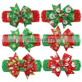 Wholesale bow tie shaped Christmas headband with funny Santa Claus hair accessories