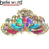 Fashion Large Alloy Peacock Rhinestone Jewel Hair Claw Clip