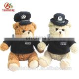 Stuffed bear importers police bear plush teddy toys in uniform