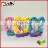Plastic musical new toy confectionery with candy