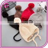 Pure color cute knitting baby caps good quality latest product kids unisex baby hats