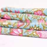 Dressmaking Sewing Fabric By Meter Indian New Hand Block Cotton Fabric Crafting