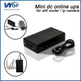 mini online ups system dc 5v9v12v 2a output ups 18650 li ion emergency battery backup wifi router ups 12v for ip camera