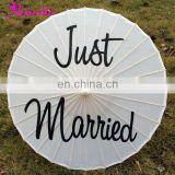 Printed Chinese Umbrella for Wedding A03115-Just Married