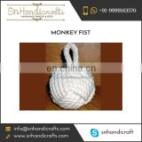 Fine Finish Beautiful Designs Handmade Cotton Monkey Fist Keychain at Nominal Price
