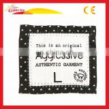 High Quality Hot Selling Adhesive Woven Clothing Labels