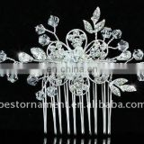 Bridal Wedding Handmade Flower Crystal Hair Comb