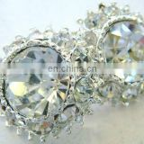 2013 new rhinestone hair flower embellishment garment accessory button