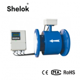 Split electromagnetic acid water flow meter