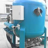 Continuous sand blasting tank equipmentfor rust cleaning of steel pipe internal surface Shot spraying by pneumatic compressed air