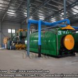 4 sets 12T/D waste tyre recycling pyrolysis plants being installed in Fujian, China