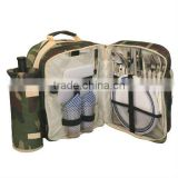Army green picnic backpack set