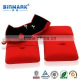 SINMARK Custom Elegant Red wool fabric Necklace Box for Jewelry