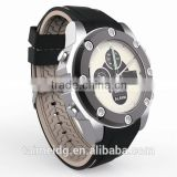 Logo branding alarm silicone watch