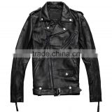 Factory Men Genuine Cowhide Leather Jackets Brand Design Fashion Casual Star Style Punk Rock Motorcycle Coat S-3XL