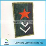 Star Embroidery Badge/Sticker/patch design woven label for clothings, bags, and garments