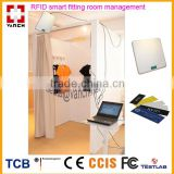 Hot sale retail shop fittings/ladies clothes fitting room clothes management with RSSI uhf rfid reader