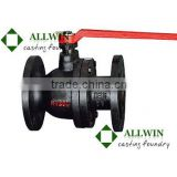 EN558 ductile iron flanged two pieces ball valve