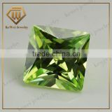 Wholesale jewelry Apple Green Square Princess Cut Cubic Zirconia
