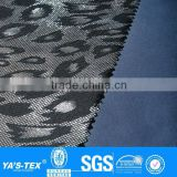 3 layers leopard print gilding waterproof windproof softshell fabric for sportswear jacket