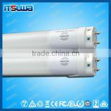 Tri-proof LED tube light fixture, 2 feet, IP65,PC Housing+PC Cover+Metal PCB,20W,emergency microwave sensor, Shenzhen