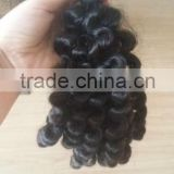 Factory price wholesale new style nice double drawn indian aunty funmi hair bouncy curls