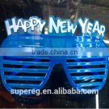 Happy New Year Shape Led Flashing Glasses Funny Party Decrorate Led Glasses Wholesale Now In Stock
