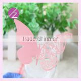 Hot sale paper butterfly place card decoration wedding wine decoration party design decoration China supplier