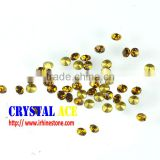 Factory direct sale Smoked Topaz color pointed back chatons , MC glass stones, foiled back glass stones