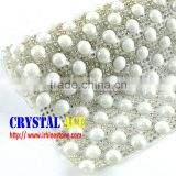 Wholesale Price Heat Transfer Ceramic Stone Mesh Trimming in Colors, Hot Fix Rhinestone Sheets Roll for Bag