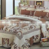 wholesale cheap printed grid bed set cotton 230*250cm