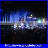 Hot sell 2015 Nightclub DJ decorative Meteor 3D DMX RGB LED Tube led chasing meteor lights