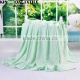 Washable natural enviroment throw bamboo swaddle Ceramic fiber blankets