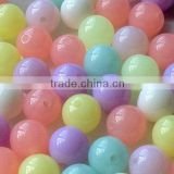 wholesales Cute Pastel Color 20mm Chunky Acrylic Jelly beads for little girls jewelry